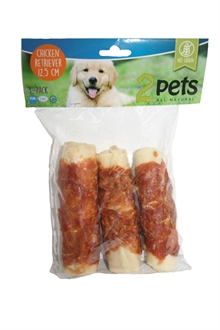 2Pets tuggrulle m kyckling 12cm 3-pack