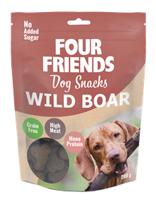 Four friends Dog Snacks Vildsvin 200gr